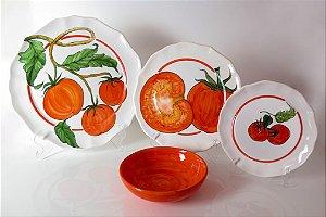 Jogo de Jantar Tomates 6 lugares (24 peças) - Silvana Tinelli