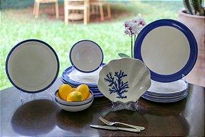 Jogo de Jantar Concha Azul 12 lugares (48 peças) - Silvana Tinelli