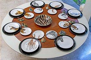Jogo de jantar África 12 Lugares - 64 Peças