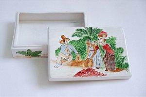 Caixa de Cerâmica pintada a mão - Silvana Tinelli