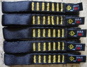 12 Fitas Expressa 11 cm UsClimb p/ Costuras - UIAA  22 Kn - Escalada - Frete Grátis