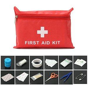 Kit Primeiros Socorros Firt Aid 35 itens