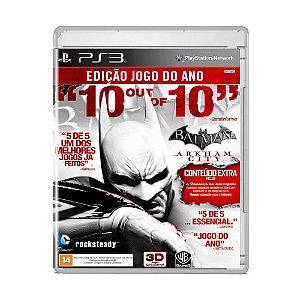 Jogo Batman: Arkham City ( Edição Jogo do Ano ) - PS3