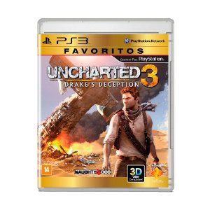 Jogo Uncharted 3: Drake's Deception ( Favoritos ) - PS3