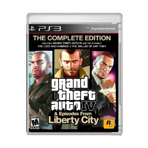 Jogo Grand Theft Auto IV & Episodes From Liberty City: The Complete Edition (Capa Reimpressa) - PS3