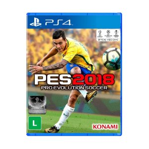 Jogo Pro Evolution Soccer 2018 (Capa Reimpressa) - PS4