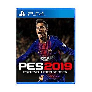 Jogo Pro Evolution Soccer 2019 (Capa Reimpressa) - PS4