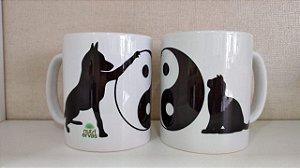 Caneca Acupuntura Veterinaria Yin Yang Cão e Gato