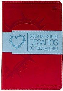 Bíblia de estudo desafios de toda mulher (vermelha)