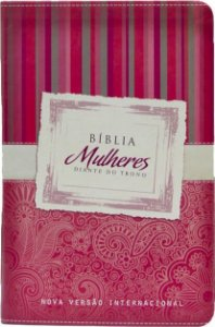 Bíblia Mulheres Diante do Trono - NVI (vermelha listras)