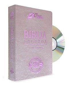 Bíblia Comemorativa com DVD Histórico da festa dos 60 anos (rosa)