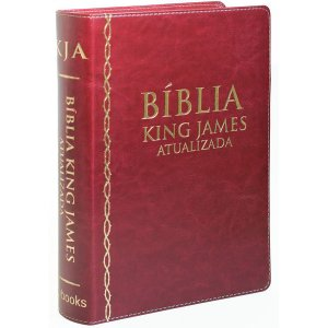 Bíblia de Estudo King James Atualizada (Vinho)