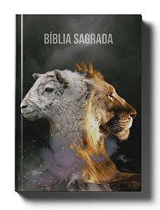 Bíblia Sagrada NAA - Capa Leão e Cordeiro