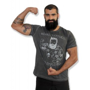 Camiseta Beard, Tattoed and Employed - Beard