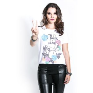 T-shirt Peace & Flowers