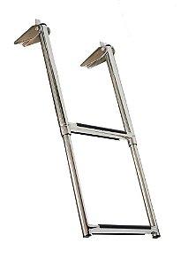 Escada Náutica Aço Inox 2 Degraus Seachoice