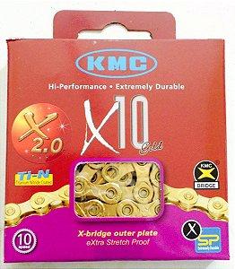 CORRENTE KMC GOLD X10 - TITANEO - 10V
