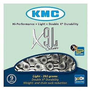 CORRENTE KMC - X9L - SILVER - SEMI VAZADA