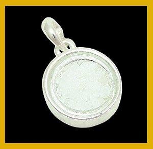 Pingente redondo de sal grosso