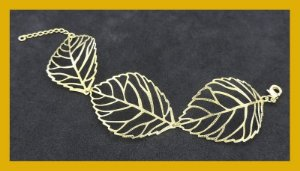 Pulseira de folhas