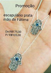 Escapulário Prata Mão de Fátima