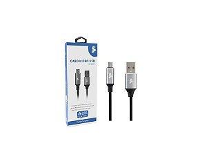 CABO MICRO USB PARA USB A - 2.0 - 1,2m Aluminum Mobile Premium