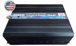 Inversor de Energia e Conversor de Tensão 2000w-24V-P/220V