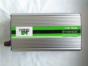 Inversor e conversor de Tensão 1000w-12v-P/220v-Onda Senoidal Modificada