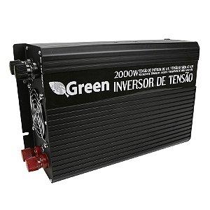Inversor De Energia e conversor de Tensão 2000w-12V-P/127V-Onda Senoidal Modificada