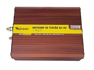 Inversor De Energia e conversor de Tensão 2000w-12V-P/220V-Onda Senoidal Modificada