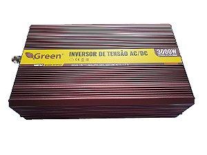 Inversor De Energia e conversor de Tensão 3000w-12V-P/127V-Onda Senoidal Modificada