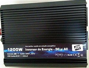 Inversor de energia e conversor de Tensão 1200w-24V-P/220V