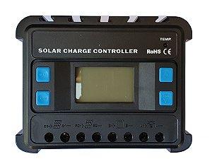 Controlador de Carga Solar ENS12/24-30D PWM 30A C/ Display