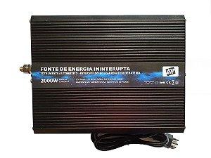 Inversor C/ Carregador de Bateria UPS2000w-12v-220V-Bateria Externa