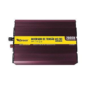 Inversor e conversor de Tensão 2000w-12V-220V-Onda Senoidal