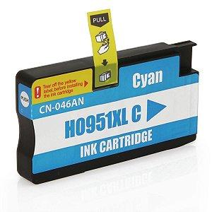 Cartucho de Tinta Compatível com HP 951XL 951 CN046A Ciano  Officejet 8600W Officejet 8100 20ml