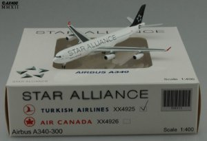 """JC Wings 1:400 Turkish Airlines Airbus A340-300 """"Star Alliance"""""""