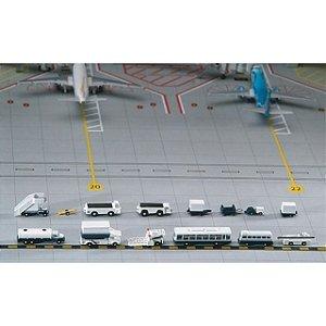 PRÉ VENDA - Conjunto de 14 veículos/acessórios de suporte aeroportuário Escala 1/400