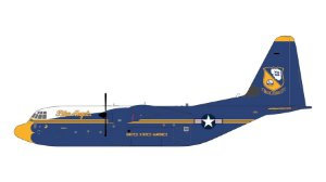 "PRÉ- VENDA GEMINI JETS 1:200 US Marines Lockheed C-130J Hercules ""Blue Angels"""