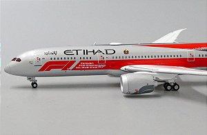 """JC Wings 1:400 Etihad Airways Boeing B 787-9 """"Formula 1"""""""