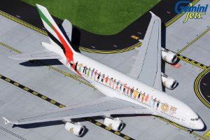 "PRÉ- VENDA Gemini Jets 1:400 Emirates Airbus A380 ""Year of Tolerance"""