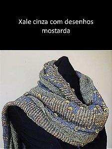 XALE CINZA E MOSTARDA