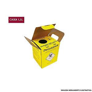 Caixa Coletora de Agulhas Descarpack - 1,5L