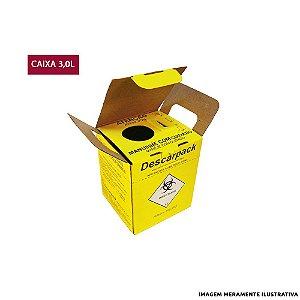 Caixa Coletora de Agulhas Descarpack - 3L