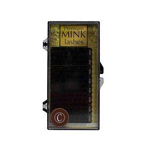 Cílios Mink 6 Fileiras - 8mm Espessura 0,15 - Curvatura C
