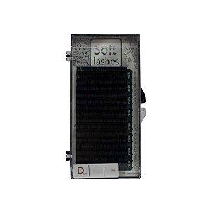 CÍLIOS SOFT VOLUME RUSSO CURVATURA D COM 6 FILEIRAS - 8MM - Espessura 0,07mm