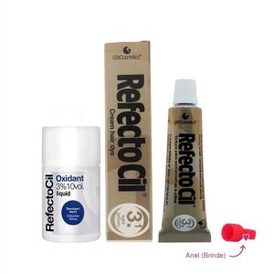 Kit Refectocil Castanho Claro 3.1 + Oxidante 100ml