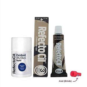 Kit Refectocil Castanho Natural 3.0 + Oxidante 100ml
