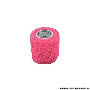 Fita Elástica Antiderrapante Rosa 5,0cm