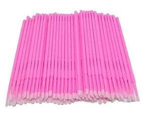Microbrush Rosa Para Alongamento de Cílios e Lash Lift - 100 unidades